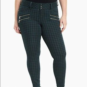 MOVING SALE-Checkered Skinny Jeans w/Faux Pockets